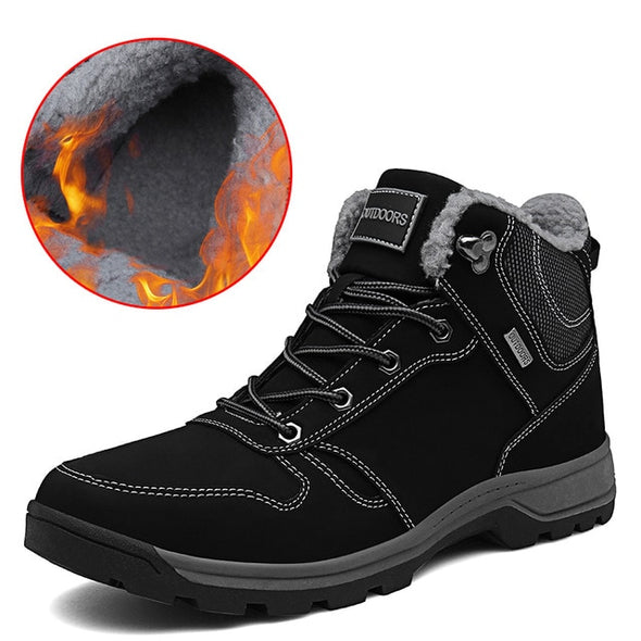 New High Quality Boots Fashion Warm Men's Shoes