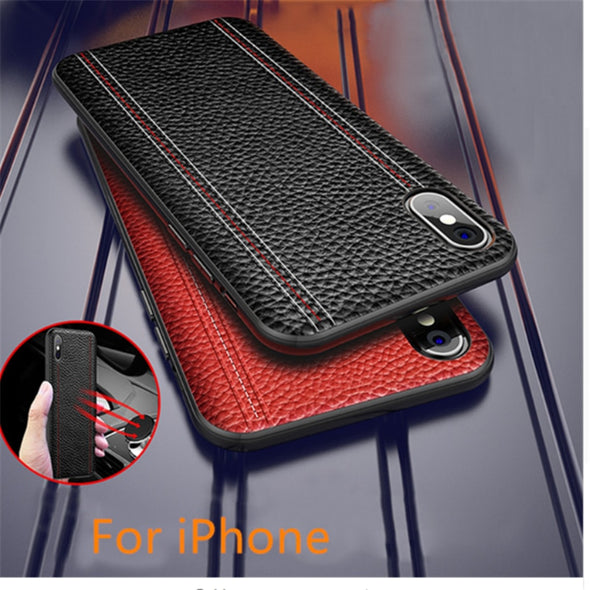 Luxury Top Quality Anti-fingerprint Leather Case For iPhone X XR XS XS MAX 8 7 6S 6/Plus