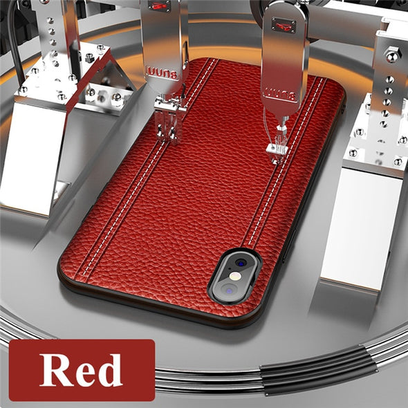 New Luxury Top Quality Anti-fingerprint Leather Case For iPhone X XR XS XS MAX 8 7 6S 6/Plus