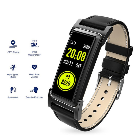 GPS IP68 Waterproof  Pedometer Heart Rate Monitor Watch
