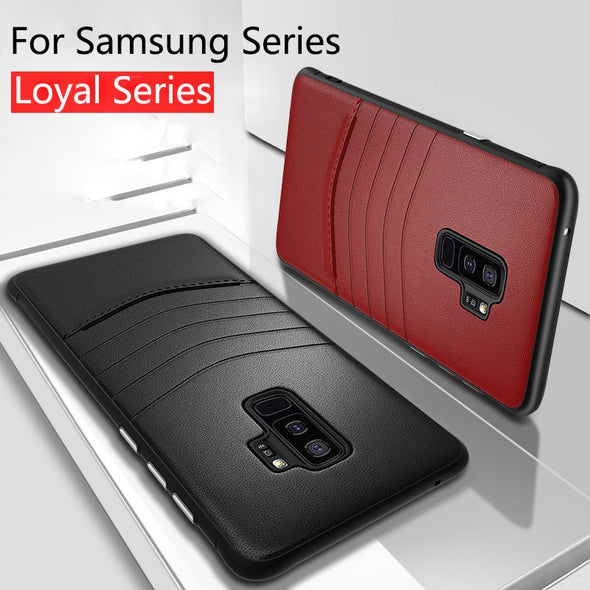 Luxury Ultra Thin Leather + PC Case For Samsung Note 9/8 S9 S8/Plus