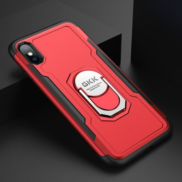 Finger Ring Kickstand Armor Shockproof Back Cover for iPhone