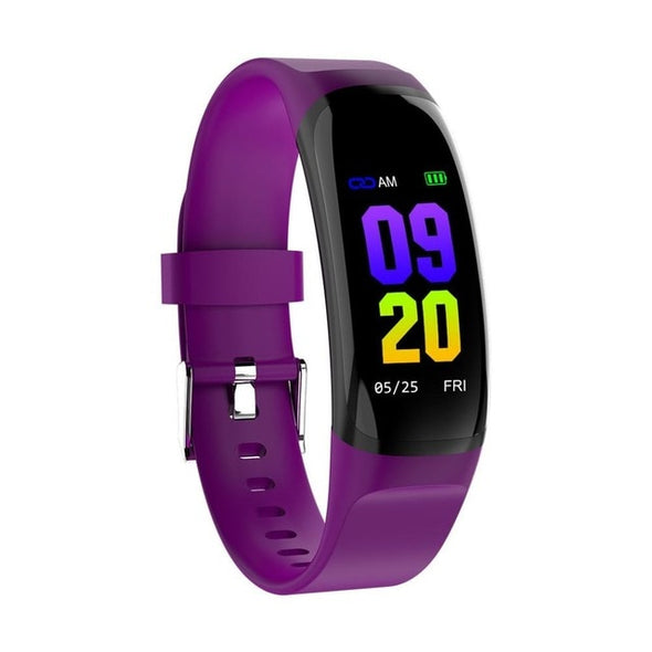 Color Screen Waterproof Heart Rate Monitor Fitness Tracker Bluetooth Sport Wristband