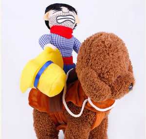 Novelty Cowboy Dog Rider Costume