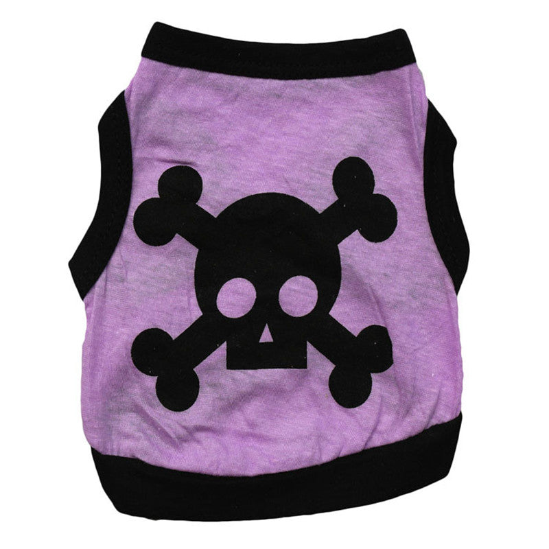 Adorable Vests with Cute Skull and Cross Bones