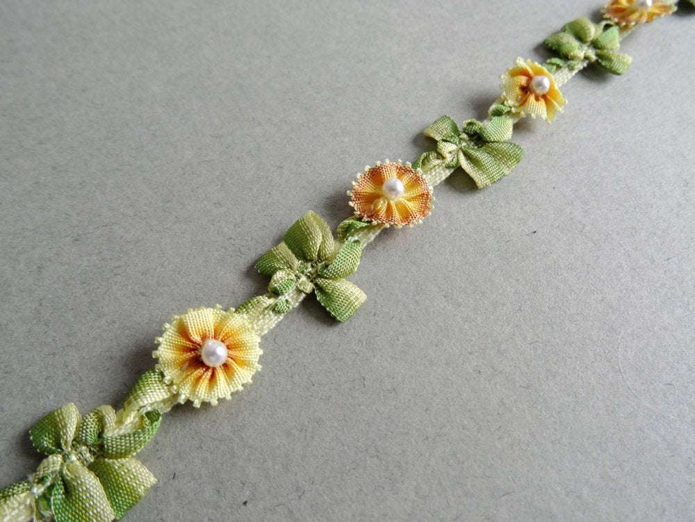 Handmade Floral Pearl beaded Trim (AVAILABLE TO ORDER)