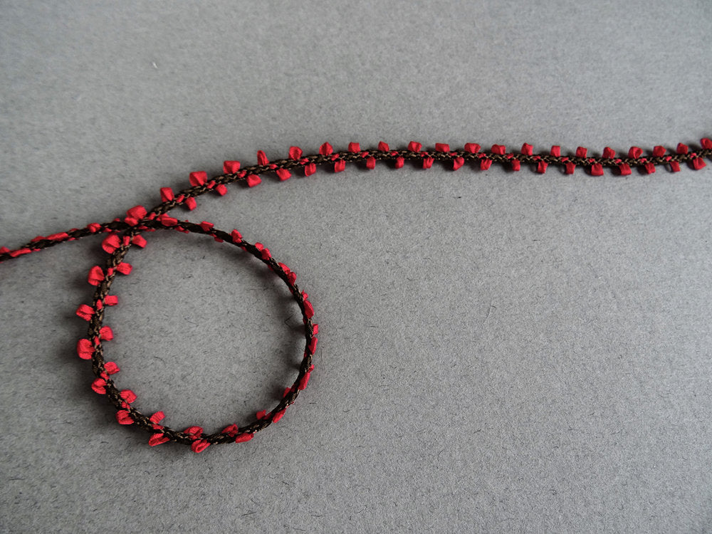 Delicate Woven Trim - Red (AVAILABLE TO ORDER)