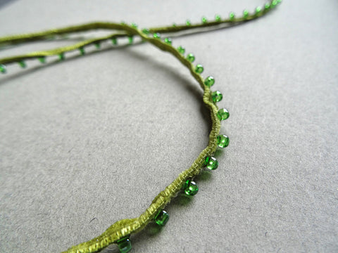 Green Tiny Bead Trim