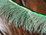 Green Glass Beaded Fringe Trim 15cm long