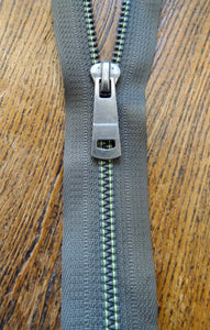 No6 Open End 66cm Khaki Metallized Zipper (AVAILABLE TO ORDER)