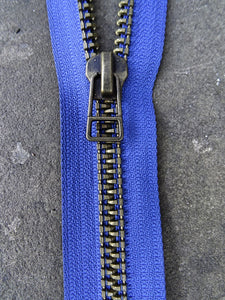 Indigo Brass No 9 Open ended 43cm Zip (AVAILABLE TO ORDER)