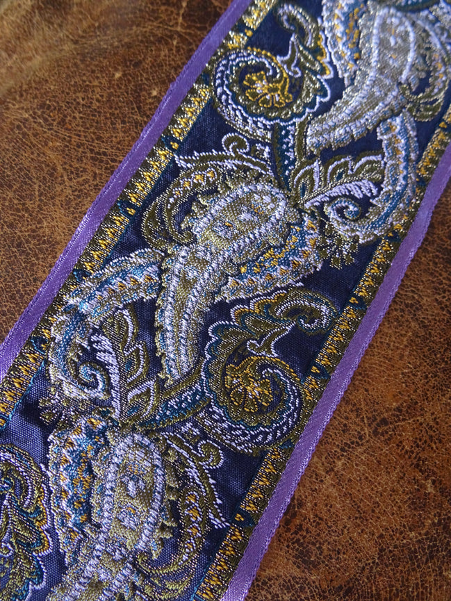 Blue Vintage Paisley Brocade (AVAILABLE TO ORDER)