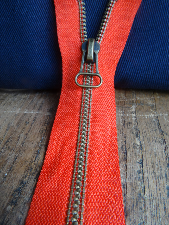 No 4 Red Closed End zip 30cm