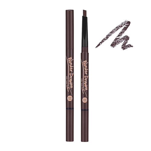 Holika Holika - Wonder Drawing 24hr Auto Eyebrow Dark Brown