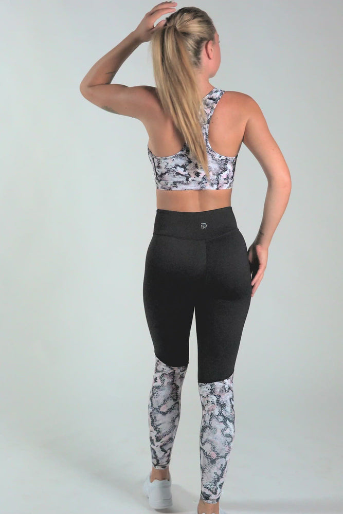 Load and play video in Gallery viewer, Python Racerback Sports Bra