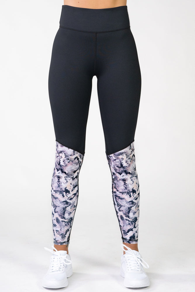 Python High Waisted Full Length Leggings