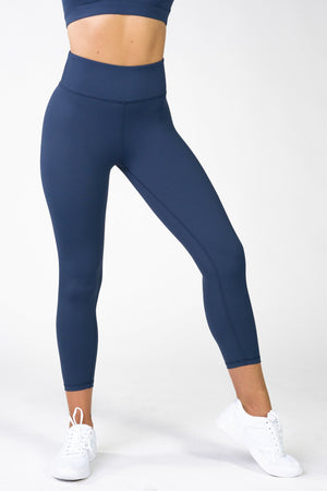 Load image into Gallery viewer, Infinity Navy High Waisted 7/8 Leggings