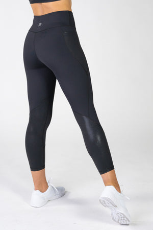 Radiance Gloss Black Pocket 7/8 Leggings
