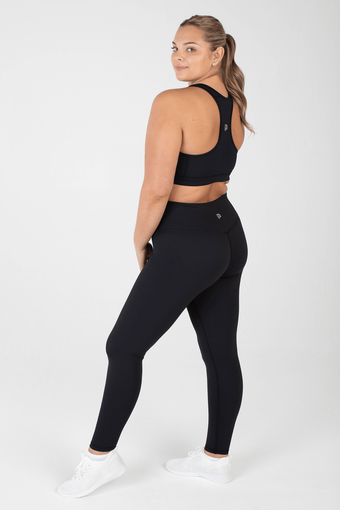 Load image into Gallery viewer, Sculpt Black High Waisted Full Length Leggings