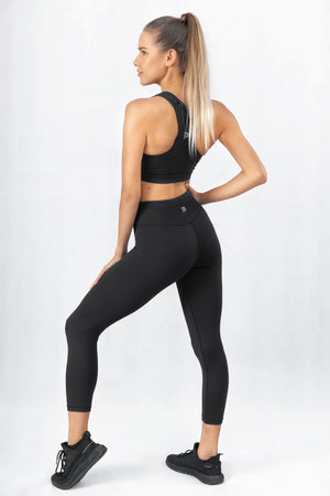Prestige Black High Waisted 7/8 Leggings