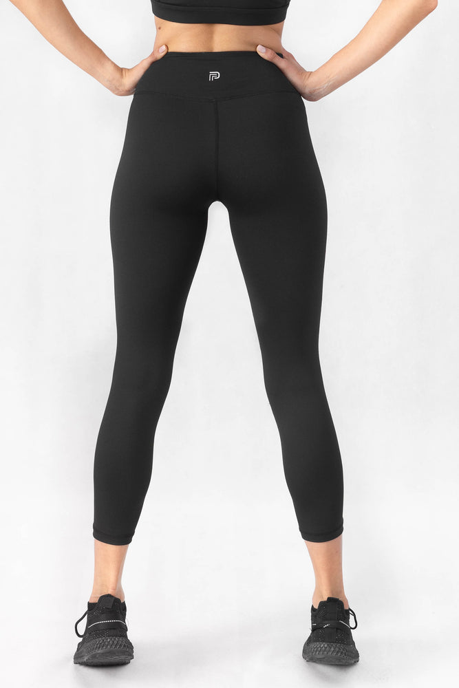 Load image into Gallery viewer, Prestige Black High Waisted 7/8 Leggings