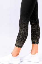 Confetti Glam Gold High Waisted 7/8 Leggings
