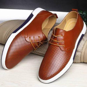 Breathable Genuine Leather Oxford Casual Shoes