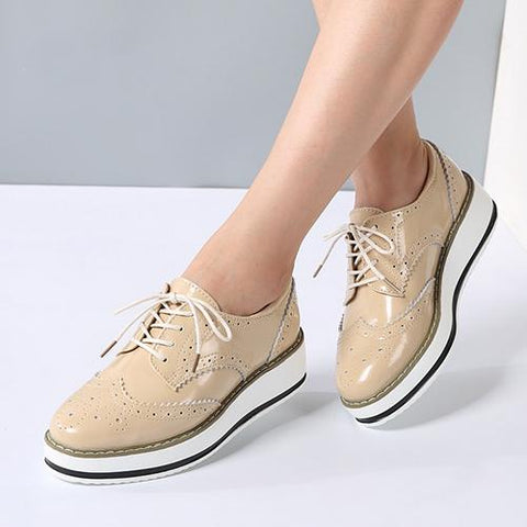 Leather Lace Up Pointed Toe Brand Shoes