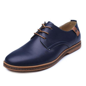 Italian Style Leather Oxford Shoes