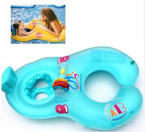 Inflatable Mother Baby Swimming Float Ring