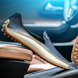 Breathable PU Leather Driving Shoes