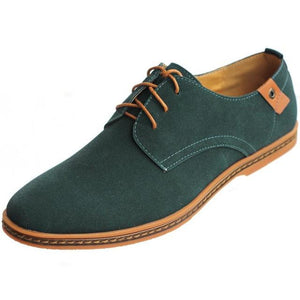 Casual Cow Suede Genuine Leather Oxford Shoes