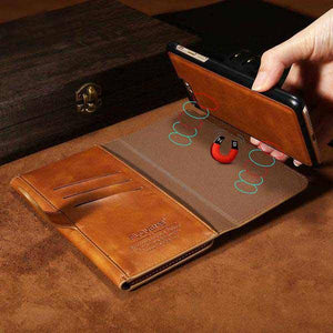 Samsung Iphone PU Leather  Flip Wallet Cover