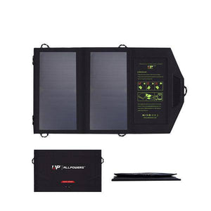 14W 5V Solar USB Output Fast Charging Solar Charger