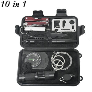 10 in 1 Outdoor Camping Survival Set