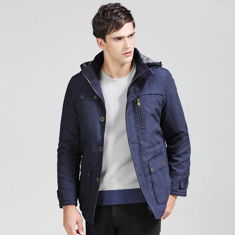 Men's Thick Warm Hooded Parka