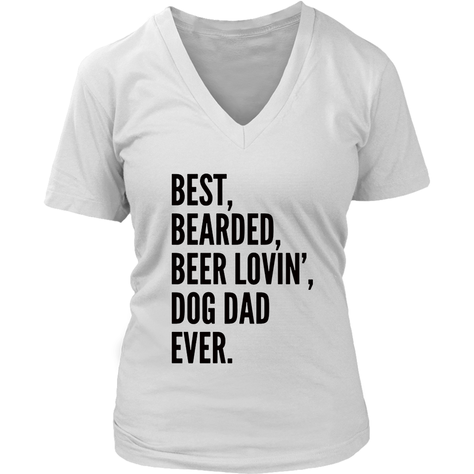 e959fb99 Funny Bearded Dad T-Shirt | Beer Lover Dog Owner Gift T-Shirt – teezim