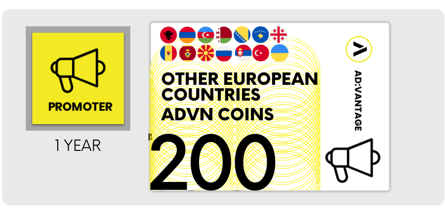 OTHER EUROPEAN COUNTRIES: Gift Card 200 ADVN