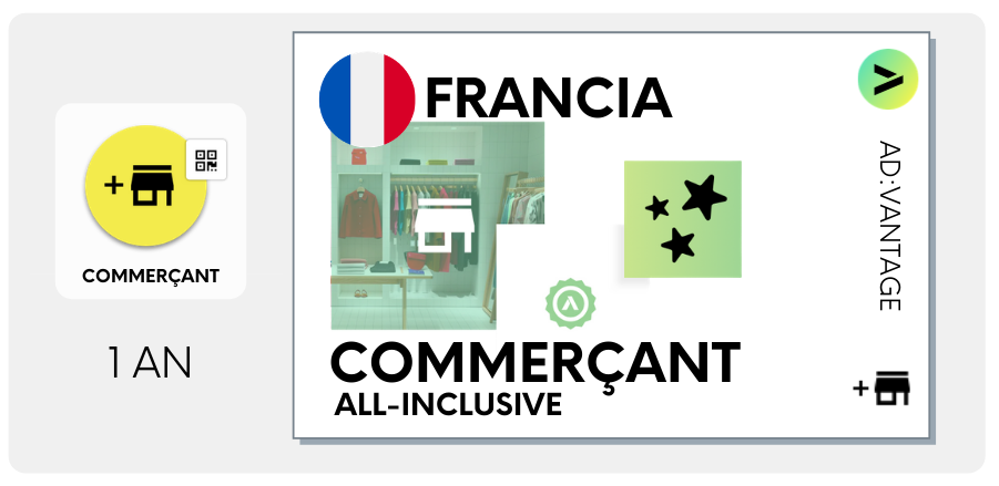 FRANCE: Commerçant  All-Inclusive, Programme Annuel