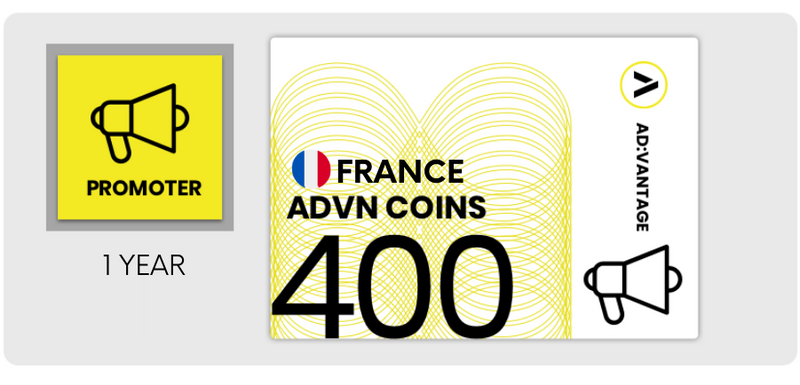 FRANCE: Gift Card - 400 ADVN