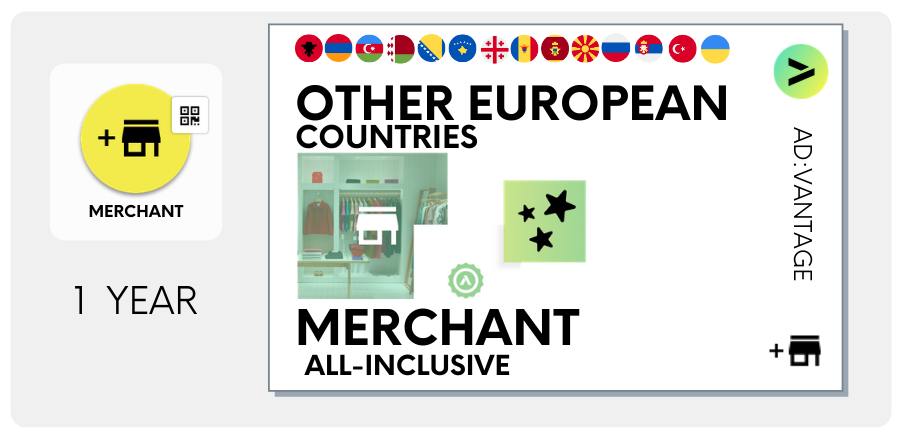 OTHER EUROPEAN COUNTRIES: Merchant All-Inclusive, Annual Plan