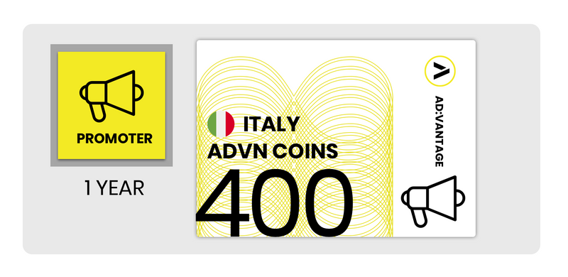 ITALIA: Gift Card Annuale - 400 Coin