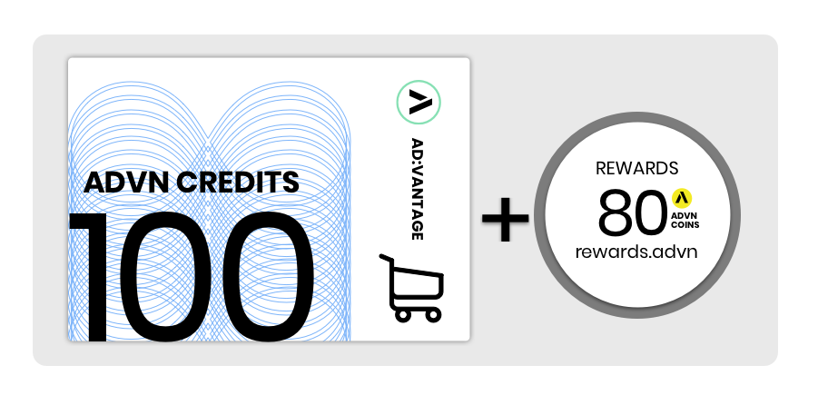 Value Card: 100 Credits, Monthly Subscription