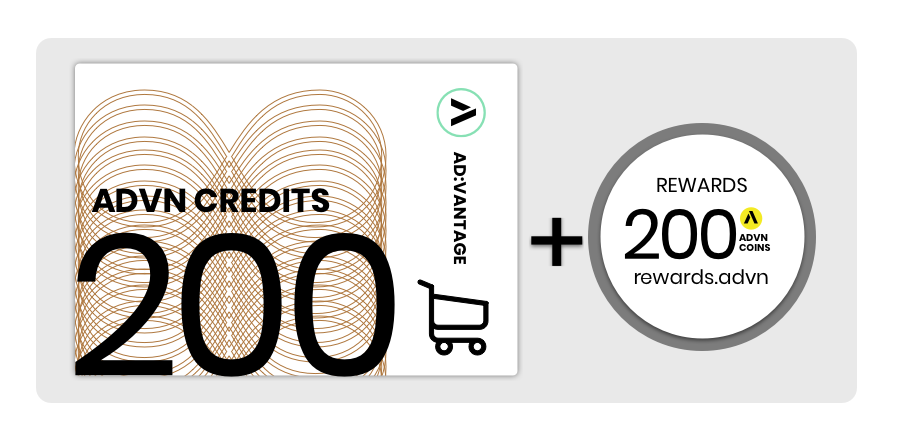 Value Card: 200 Credits, Monthly Subscription