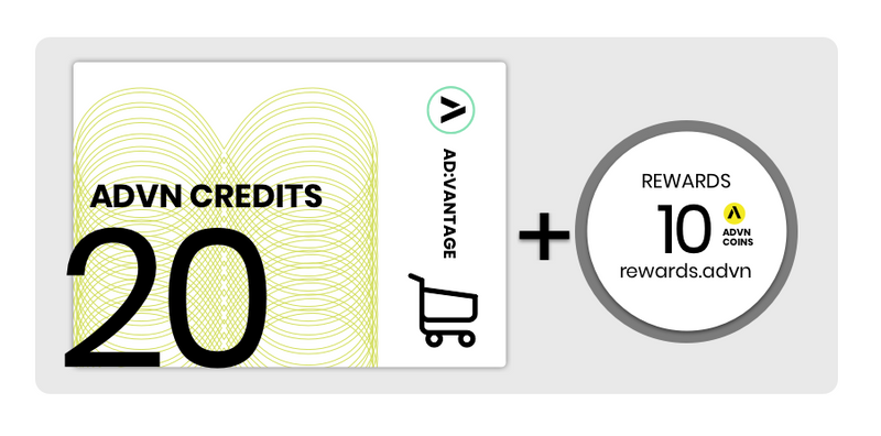 Value Card: 20 Credits, Monthly Subscription