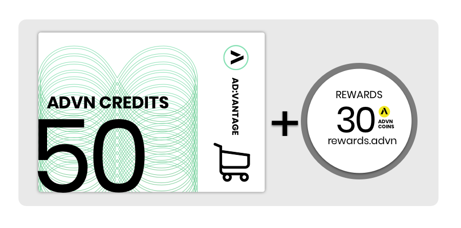 Value Card: 50 Credits, Monthly Subscription