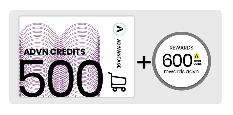 Value Card: 500 Credits, Monthly Subscription