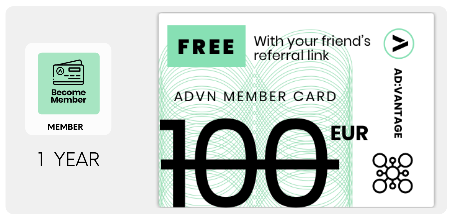 EU: ADVN Membership for 1 YEAR - With referral link 0.00 €