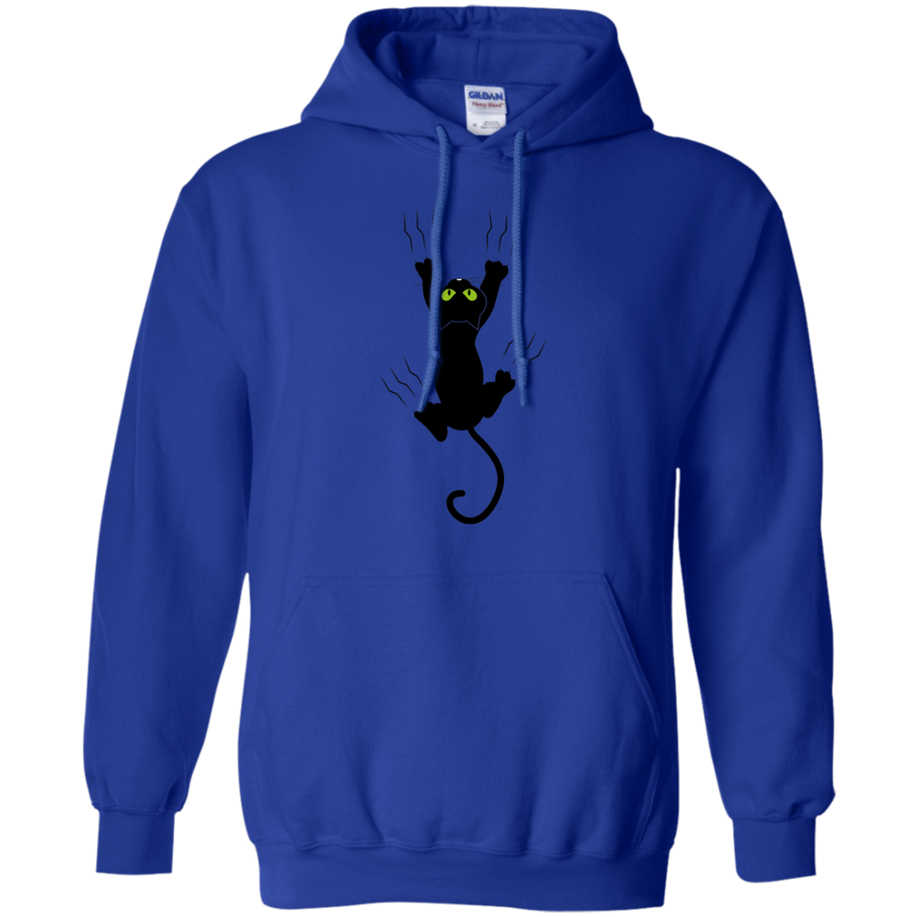 Cat Grabing With Claws - Yellow, Blue Tshirt, Hoodies