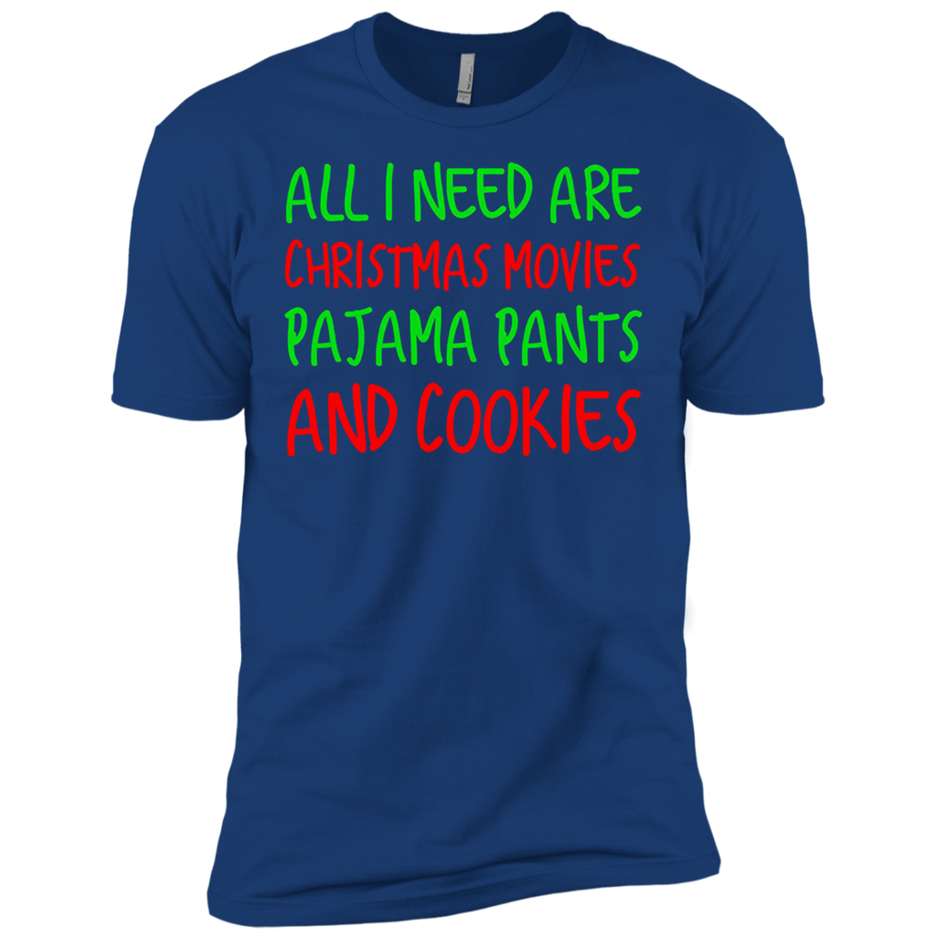 All I Need Christmas Movies Pajama Pants & Cookies T-shirt
